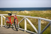 Beach cruiser bicycle. — Stock Photo