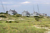 Houses at coast. — Stock Photo