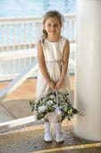 Portrait of flowergirl. — Stock Photo