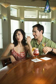 Couple Having Drinks — Stock Photo