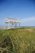 Arbor on Beach — Stock Photo