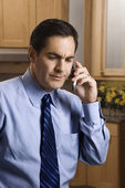 Businessman on cell phone. — Stock Photo