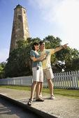 Couple sightseeing. — Stock Photo