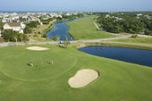 Coastal golf course. — Stock Photo