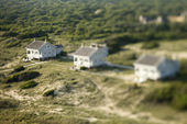 Aerial of beach homes. — Stock Photo