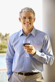 Middle Aged Man Drinking Wine — Stock Photo