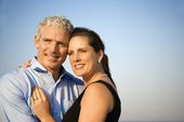 Smiling Couple Embracing — Stock Photo