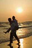 Couple at beach. — Stock Photo