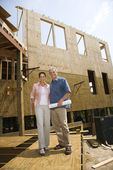 Portrait at new construction site. — Stock Photo
