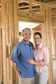 Couple Building Home — Stockfoto