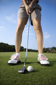 Adult Female Golfing — Stock Photo