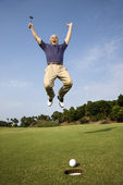 Man playing golf. — Stock Photo