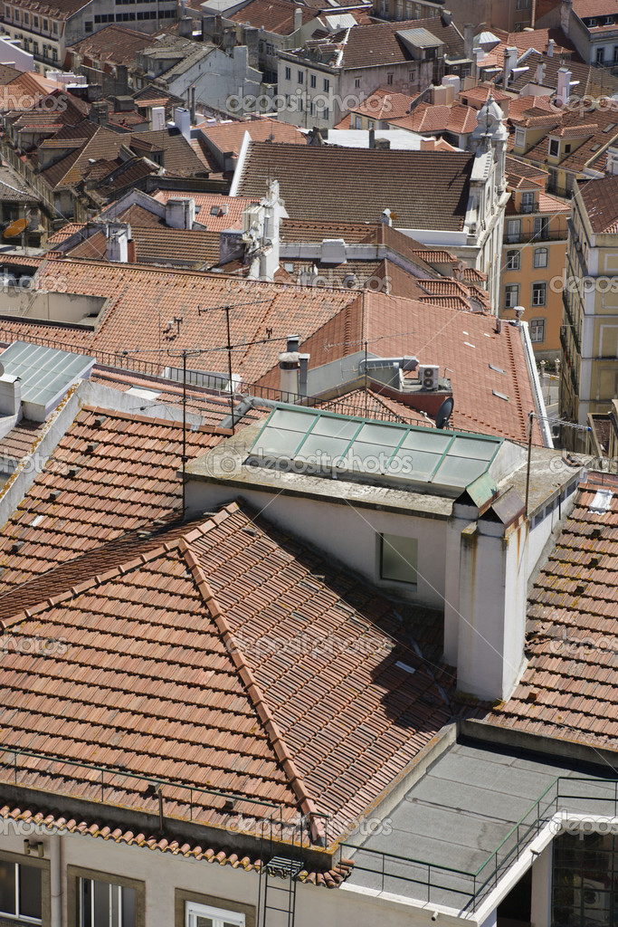 Rooftop urban view in Lisbon, Portugal. — Stock Photo #9496321
