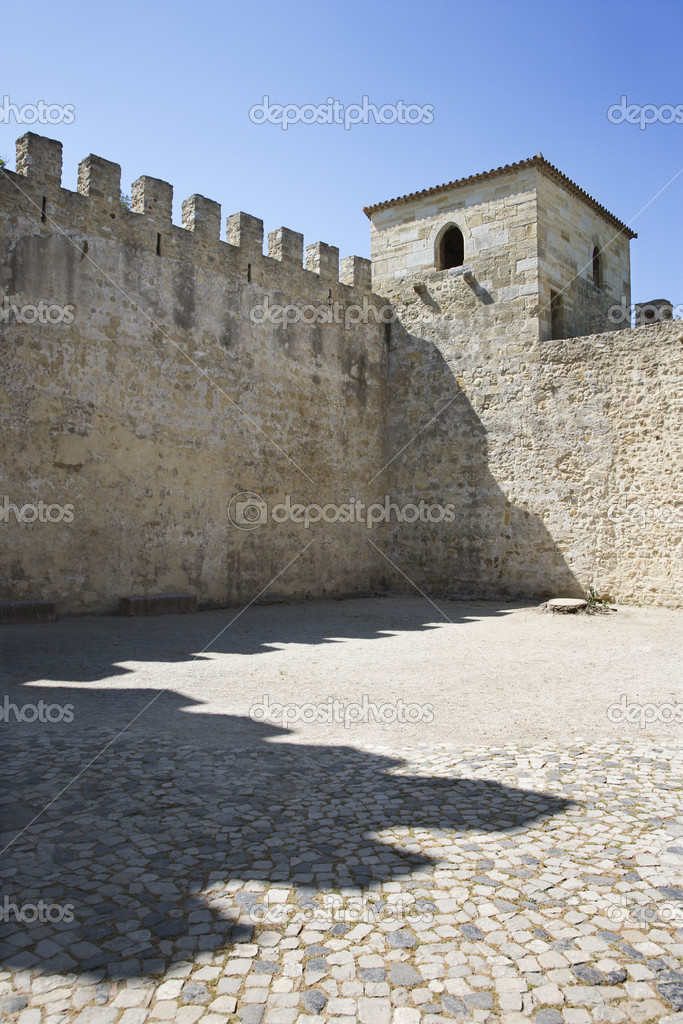 Castle structure in Lisbon, Portugal. — Stock Photo #9496337