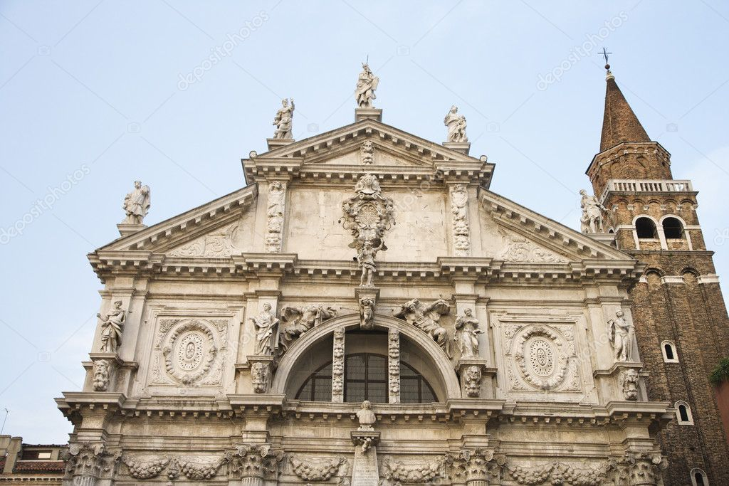 Facade of San Moise Church in Venice, Italy. — Stock Photo #9496859