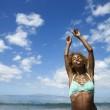 Woman in swimsuit. — Stock Photo