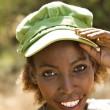 Woman in cap. — Stock Photo