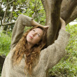 Stock Photo: Woman in forest.