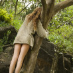 Woman hugging tree. — Stock Photo