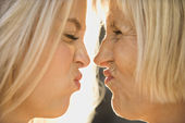 Mom and daughter portrait. — Stock Photo