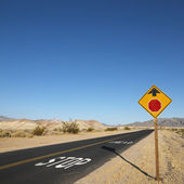 Road in desert. — Stock Photo