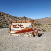 Death Valley Park sign. — Stock Photo