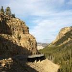 Highway through Wyoming mountains. — Stock Photo