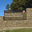 Mount Rushmore sign. — 图库照片