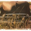 Royalty-Free Stock Photo: Polaroid transfer of car.