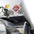 Fuel tanker truck. - Stock Photo