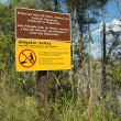 Sign in Florida Everglades. - Stock Photo