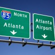 Atlanta Freeway Signs — Lizenzfreies Foto