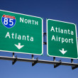 Atlanta Freeway Signs — 图库照片