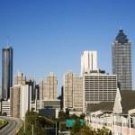 Atlanta city skyline. — Stock Photo
