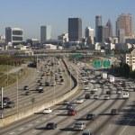 Traffic on Multi-Lane Freeway — Stock Photo #9518627