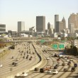 Stock Photo: Traffic on Multi-Lane Freeway