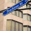 Atlanta street sign. - Stock Photo