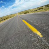 Two lane road South Dakota. — Stock Photo