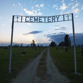 Entrance to cemetary. — Stock Photo