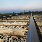 Railroad tracks. — 图库照片