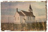 Transfert Polaroid d'église. — Photo