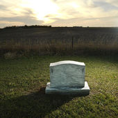 Headstone on rural grave. — Stock Photo
