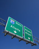 Highway sign. — Stock Photo