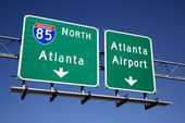 Atlanta Freeway Signs — Stock Photo