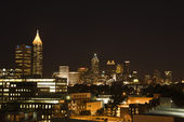 Atlanta night skyline. — Stock Photo