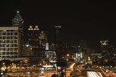 Nightscape of Atlanta. — Stock Photo