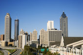 Skyline von atlanta. — Stockfoto