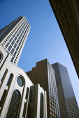 Low angle of tall buildings. — Stock Photo