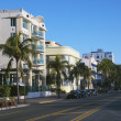 Art deco district, Miami. — Stockfoto