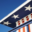 Patriotic painted building. — Stock Photo